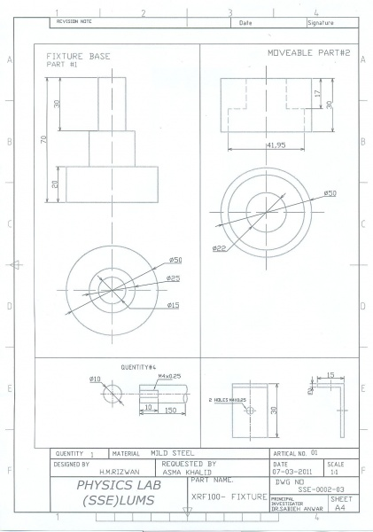 Bearing fixture assembly