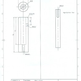 2D drawing for Comptons Scattering manufacturing parts