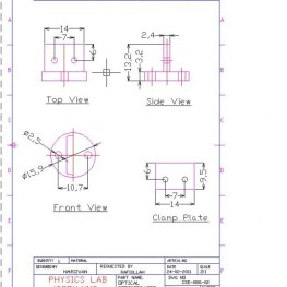 2D drawing sample holder for thermopower measurement