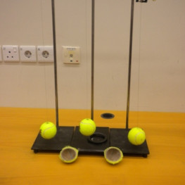 Tennis ball pendulum