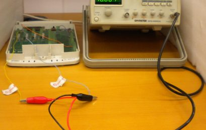 3. Connecting a signal generator to the labeled leads of DAQ for acquiring data