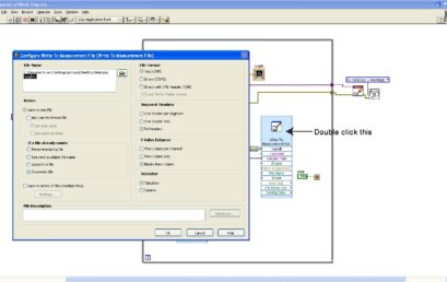 9. Saving data in nyq.lvm file. You can change the folder path as well