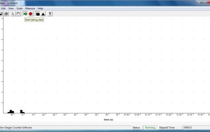 7. Bar graph screen of Geiger software