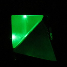 A prism placed close by does not frustrate the total internal reflection