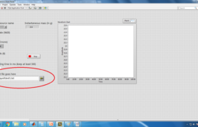 3. Prepare the LabVIEW file and give output path for data collection