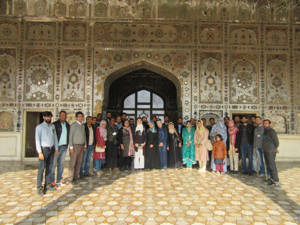 Participants of the Fourth Regional Laboratory Immersion Programme 2016 at the historic Sheesh Mahal (The Palace of Mirrors; Urdu: شیش محل‎) in Lahore Fort, Pakistan.